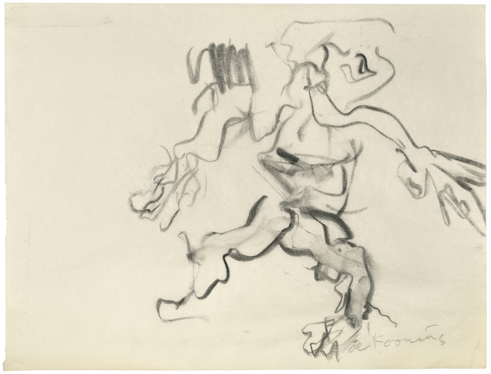 Willem DE KOONING (1904 – 1997)Charcoal on paper22,5 x 30 cm (8 7/8 x 11 3/4 in.)With a letter by Mr. Michael Luyckx, the nephew of Elaine de Kooning who was the executor of the Estate of Elaine de Kooning, confirming that the work was sold directly by the Estate.ProvenanceElaine De KooningPrivate collection (Acquired from the estate of the above)