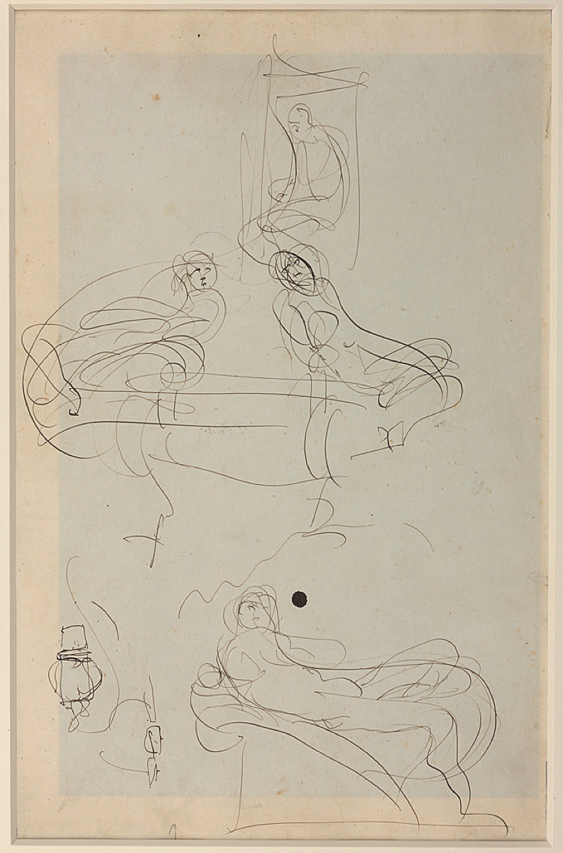 Auguste RODIN (1840-1917)Pen and brown ink on wove paperVerso: pencil on paper37.3 x 24.4 cm