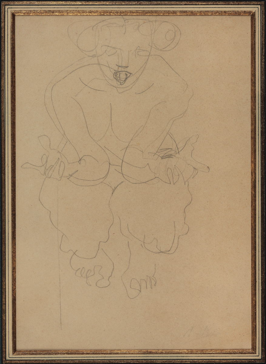 Auguste RODIN (1840-1917)Graphite on lined Japan paper29.5 x. 19.3 cmSigned at the bottom right: 'A. Ro(din)'