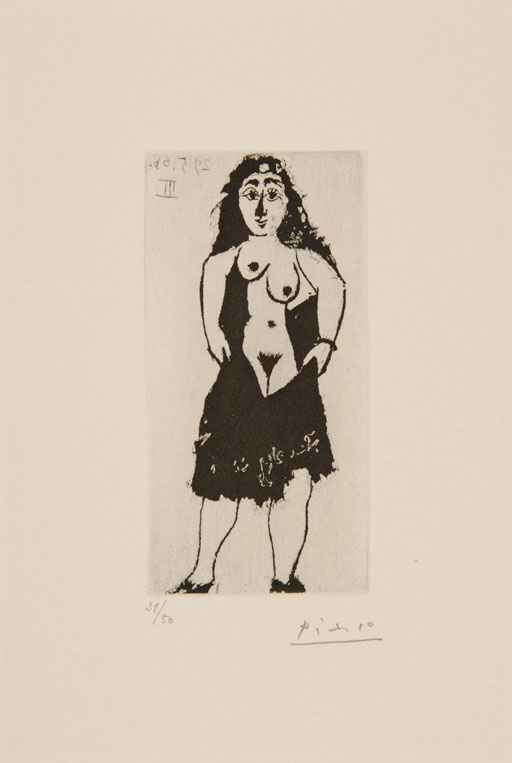 Pablo PICASSO (1881-1973)Aquatint on wove32.7 X 25.6 cmFrom: La Série {quote}347{quote}
