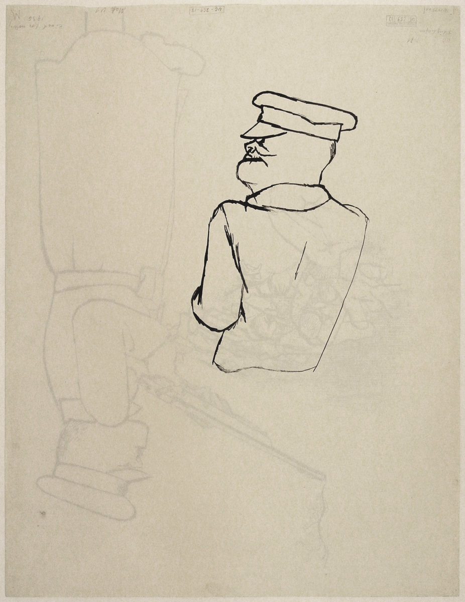 "George GROSZ (1893-1959)Reed pen and pen and ink on paper59,2 x 46,1 cmStamped ""GEORGE GROSZ NACHLASS"" and numbered UC-259-13"