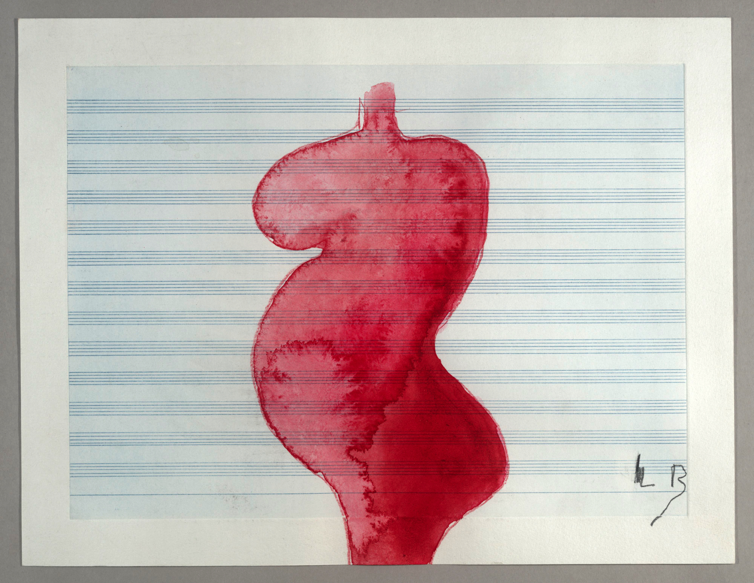 Louise BOURGEOIS (1911-2010)Gouache and colored pencil on etched music paper29,2 x 38,1 cm