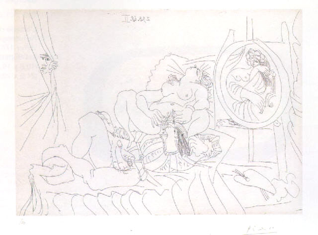 Pablo PICASSO (1881-1973)Etching27.9 X 38.6 cmFrom: La Série {quote}347{quote}