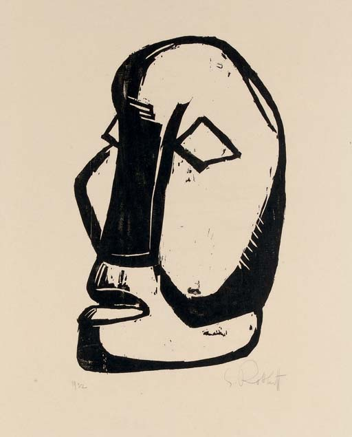 Karl SCHMIDT-ROTTLUFF (1884 – 1976)Woodcut on wove paperSigned in pencil, inscribed with the artist's work number 1916Impression 433 x 274 mmSheet 695 x 557 mmOne of only a small number of impressions (there was no edition), with wide margins