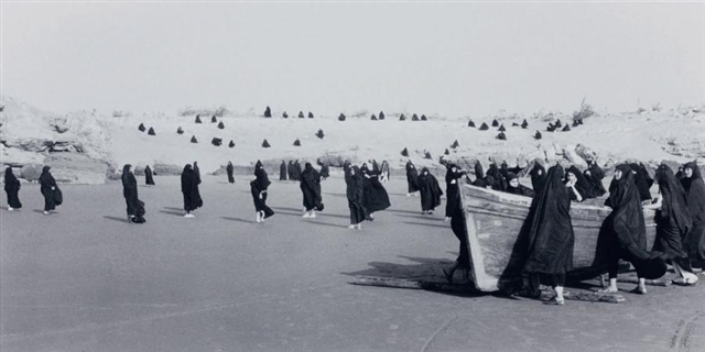 Shirin NESHAT (b. 1957)Gelatin silver print88.9 x 174 cm - Edition 5Please click for video: Excepts from the film Rapture by Shirin NeshatDirector of photography Ghasem Ebrahimian (duration: 04:19)
