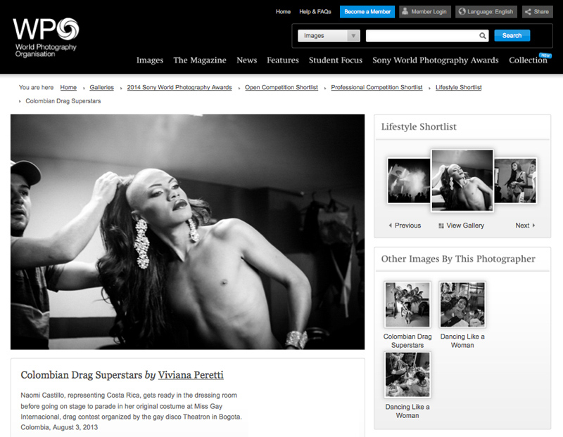 Colombia's Next Drag Superstar shortlisted in the Lifestyle category at the 2014 SONY WORLD PHOTOGRAPHY AWARDS on May 2014. See more at: http://worldphoto.org/images/image/746342/?FromImageGalleryID=21095