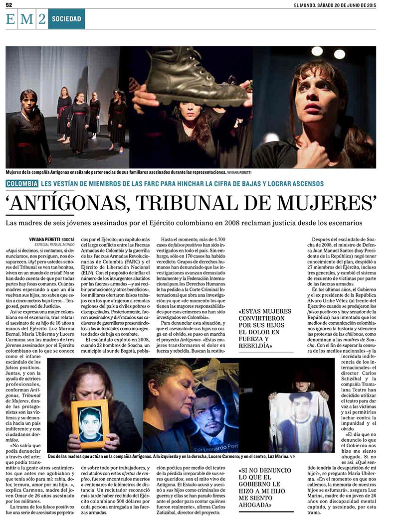 Antígonas, Tribunal de Mujeres featured on El Mundo in Spain. See more at: http://www.elmundo.es/internacional/2015/06/27/