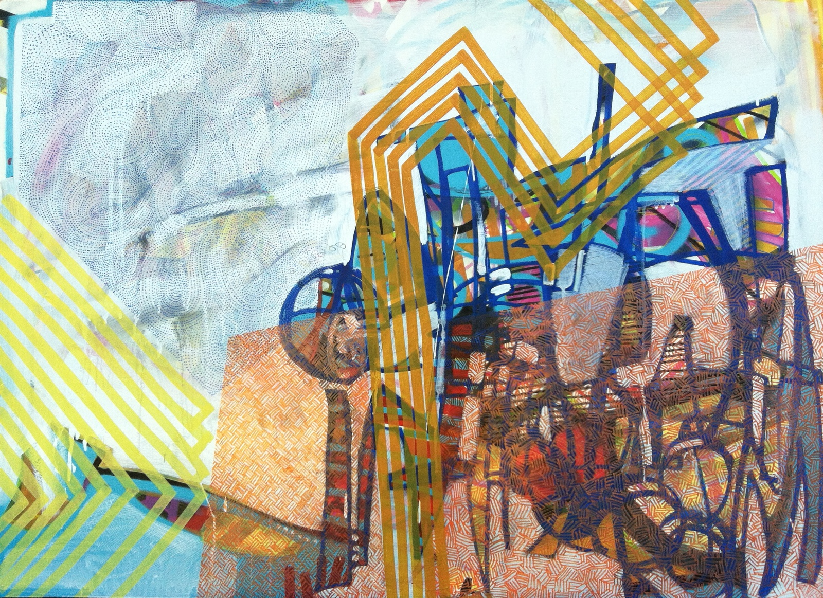 Mixed Media, 36{quote} x 48{quote}, SOLD
