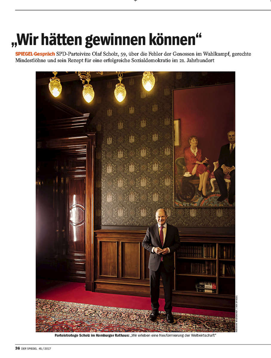 SPIEGEL, Germany, Olaf Scholz, Mayor of Hamburg