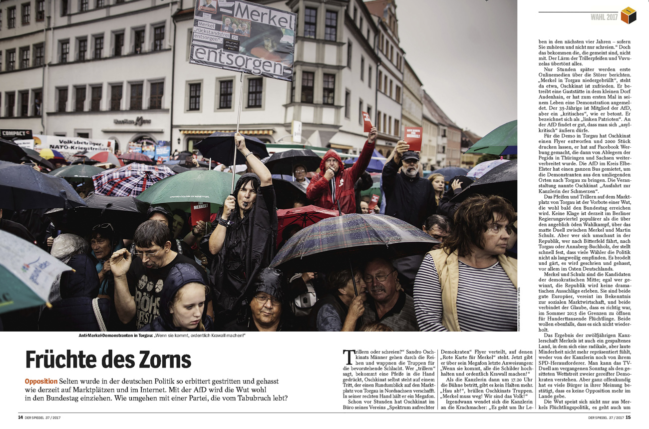 SPIEGEL, Anti Merkel Protests,Torgau