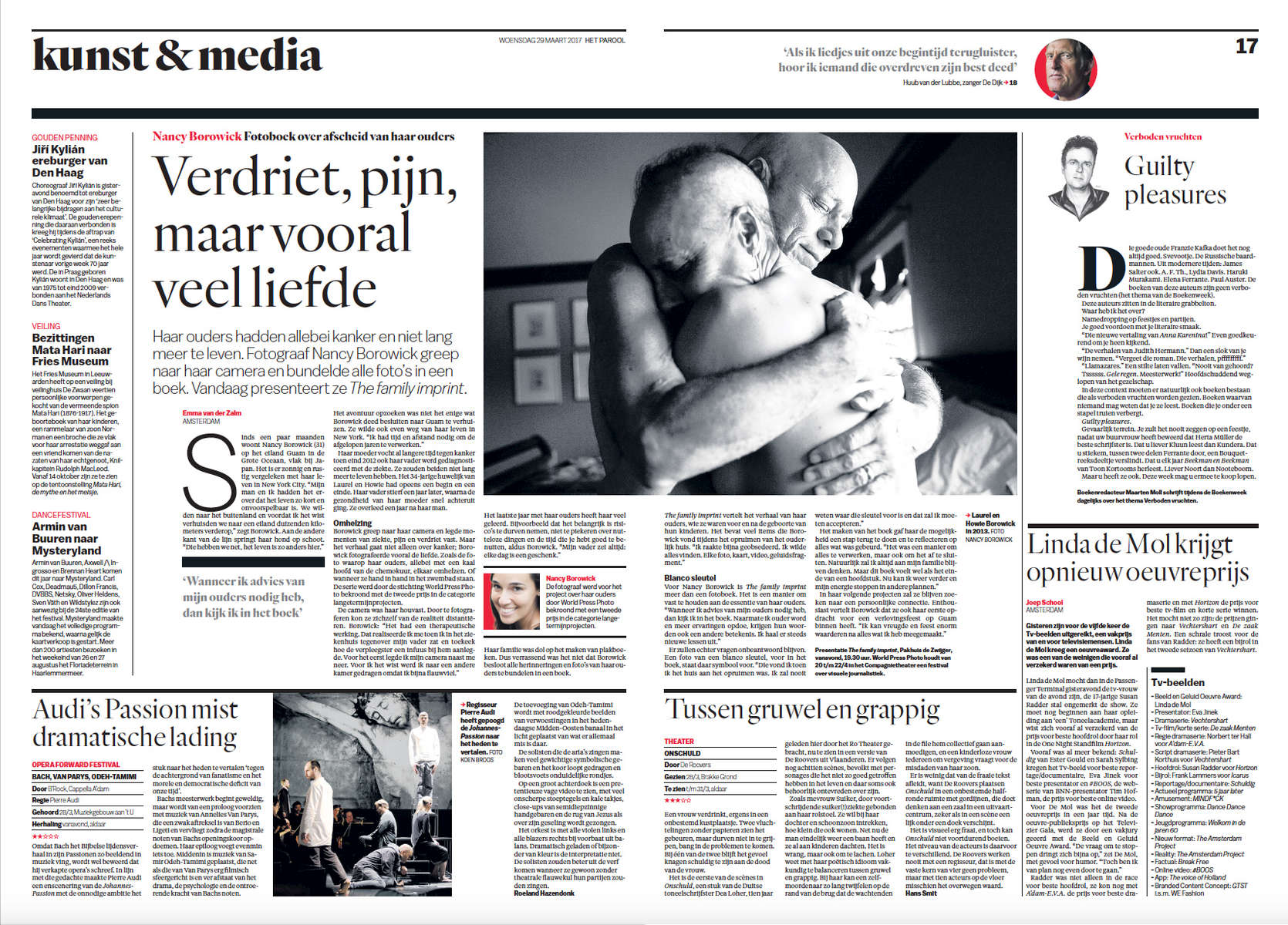 When I wasn't samplling the regions many delicious cheeses, I was connecting with Dutch newspapers, like this one, for interviews about The Family Imprint.