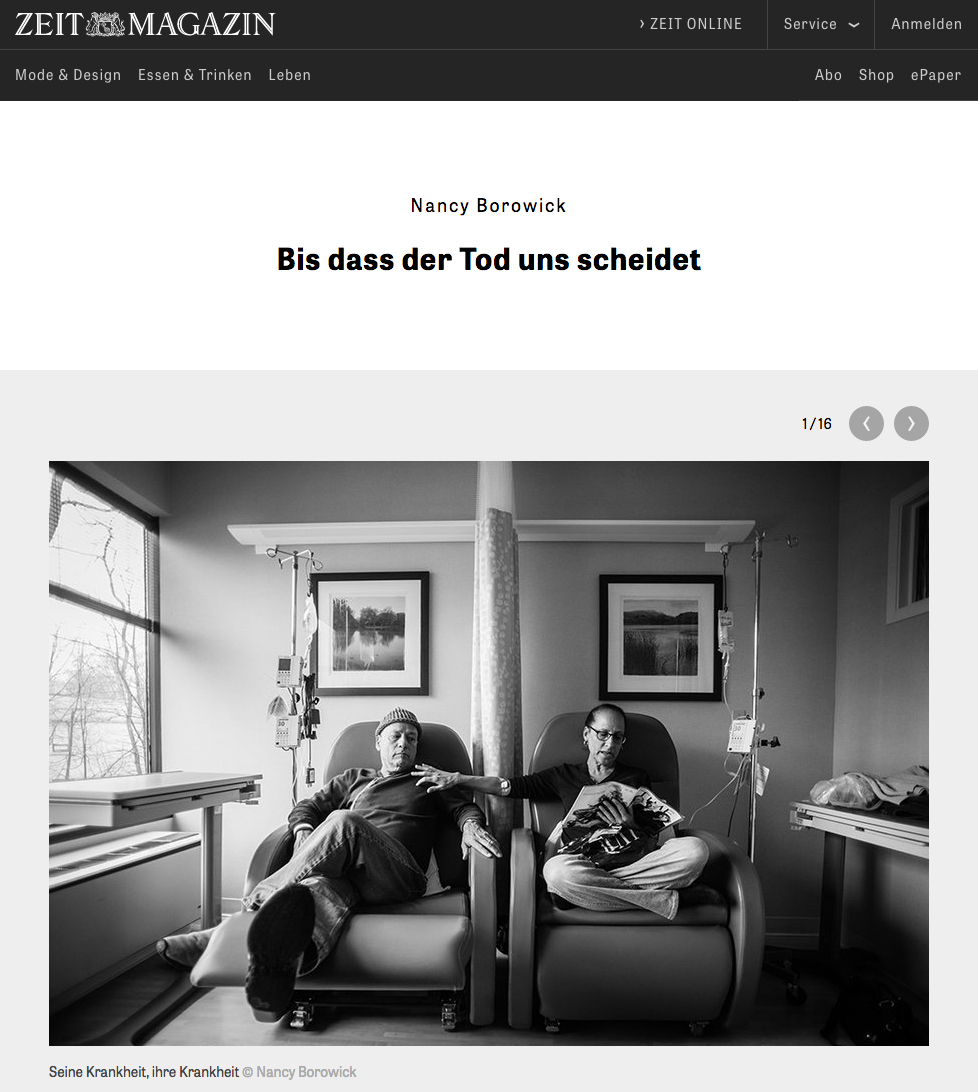 Zeit Magazin is one of the most popular ouetlets in Germany and it was an honor to see my photographs posted along with a kind mention of The Family Imprint.Read it here