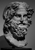 Marble Head of Zeus Ammon