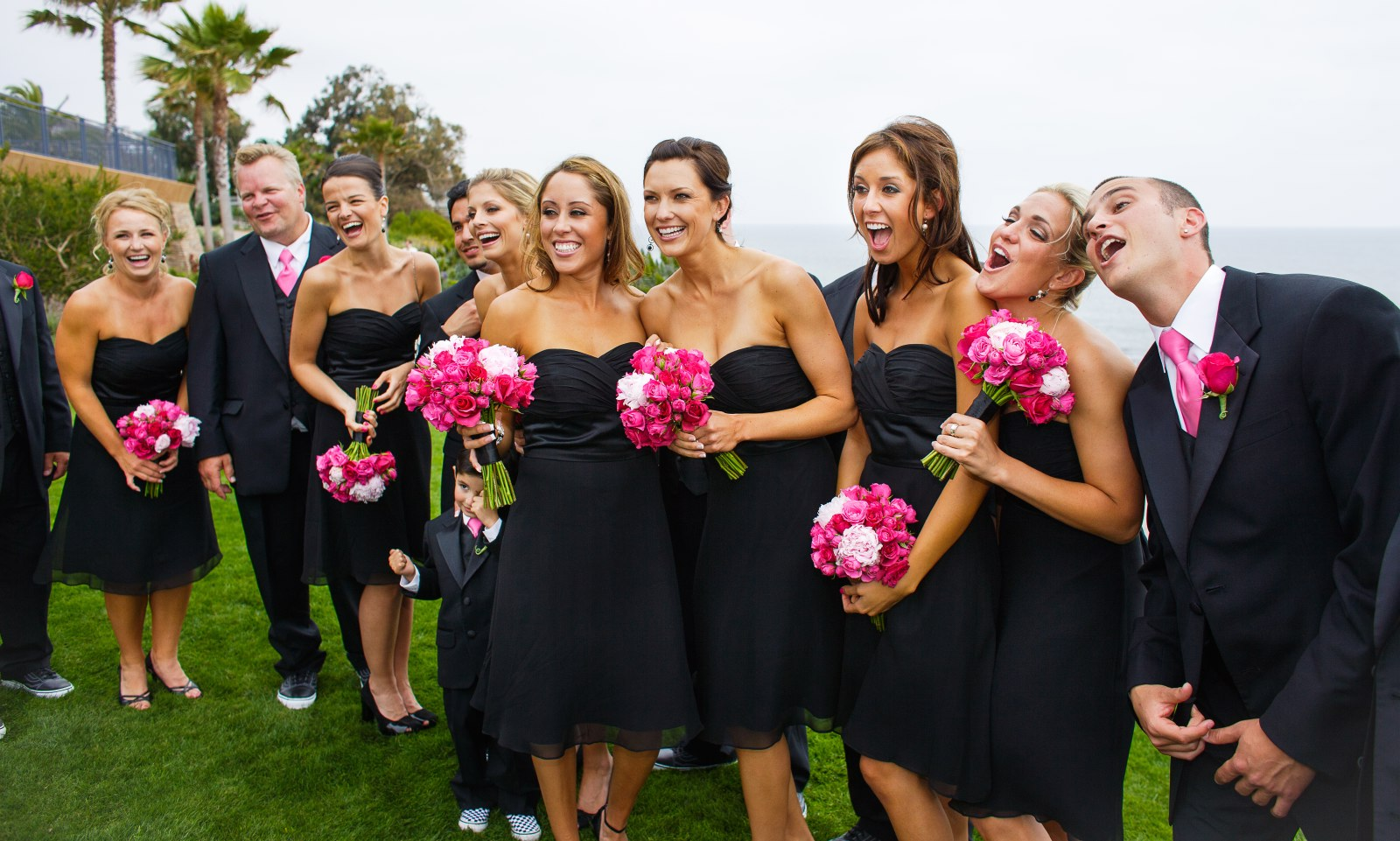 black-bridesmaids-dresses-at-montage-resort