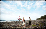 couple gets married on beach in dominica