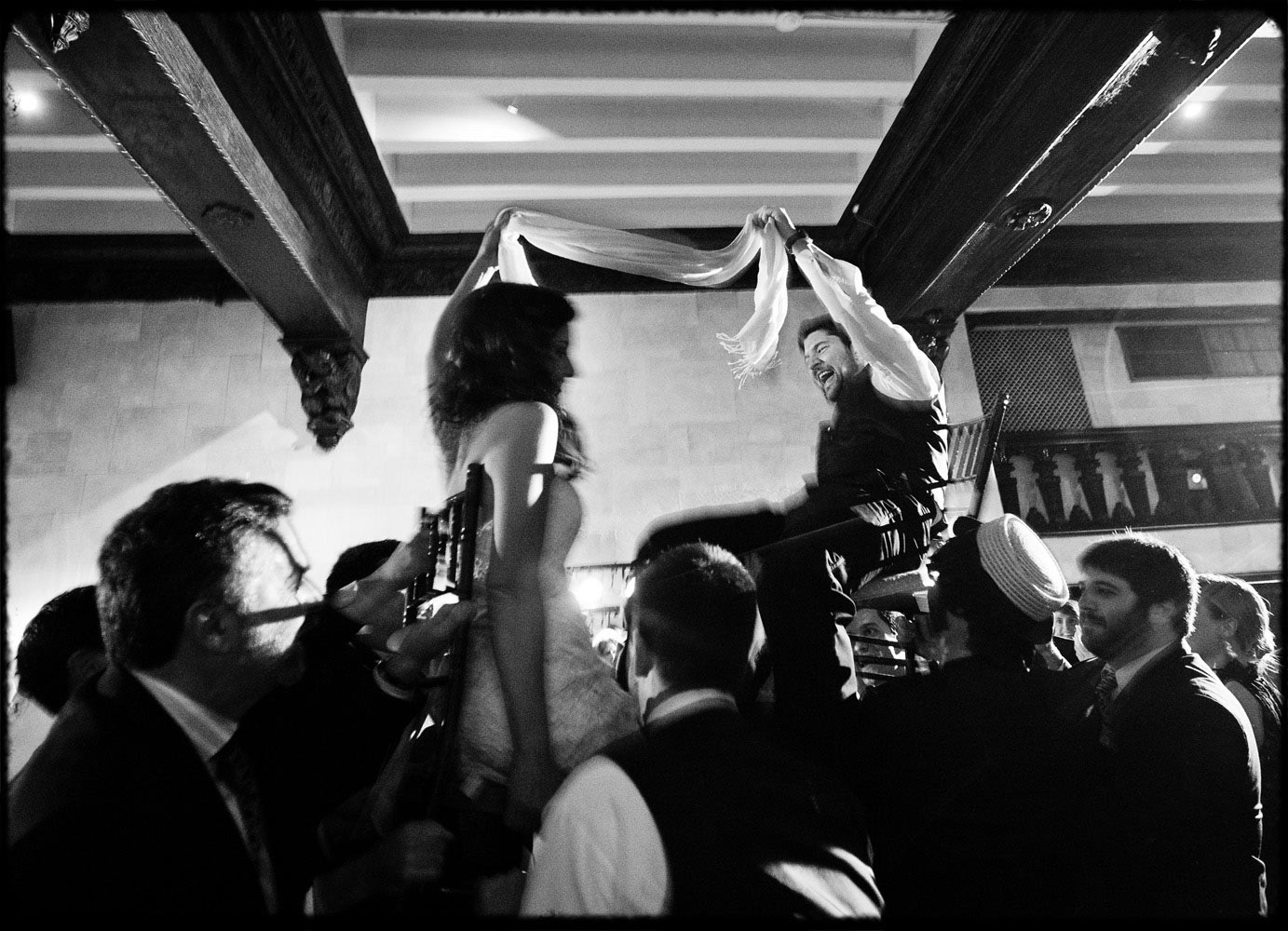 black and white hora dance in boston