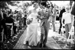 wedding recessional at lewis ginter botanical garden in richmond virgina