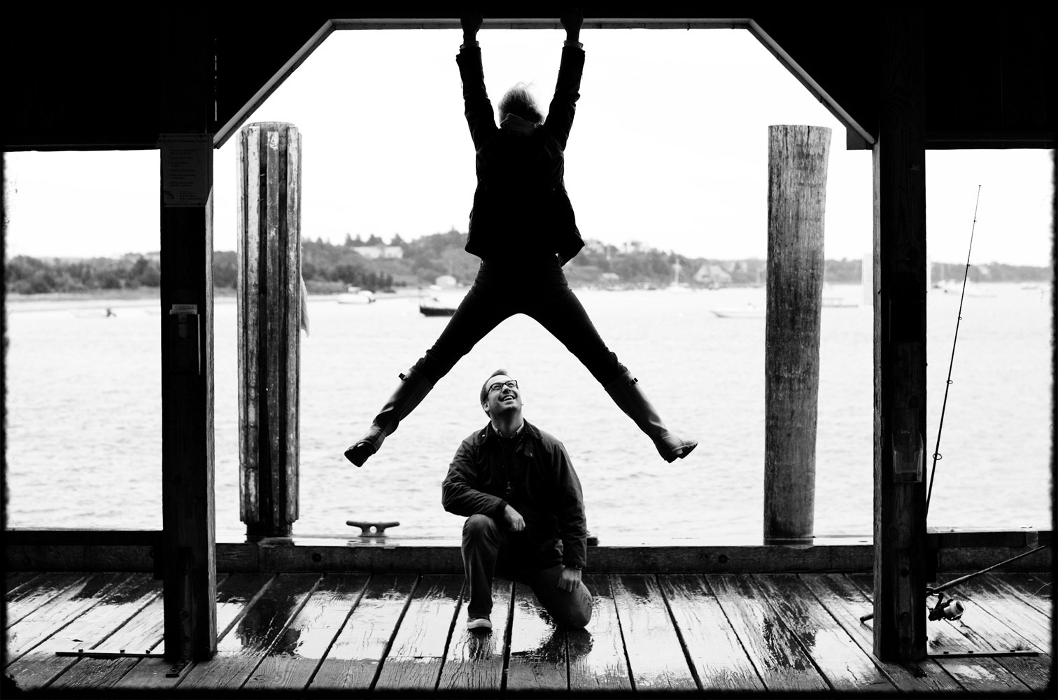 marthas_vineyard_engagement_pier_fishing_rain