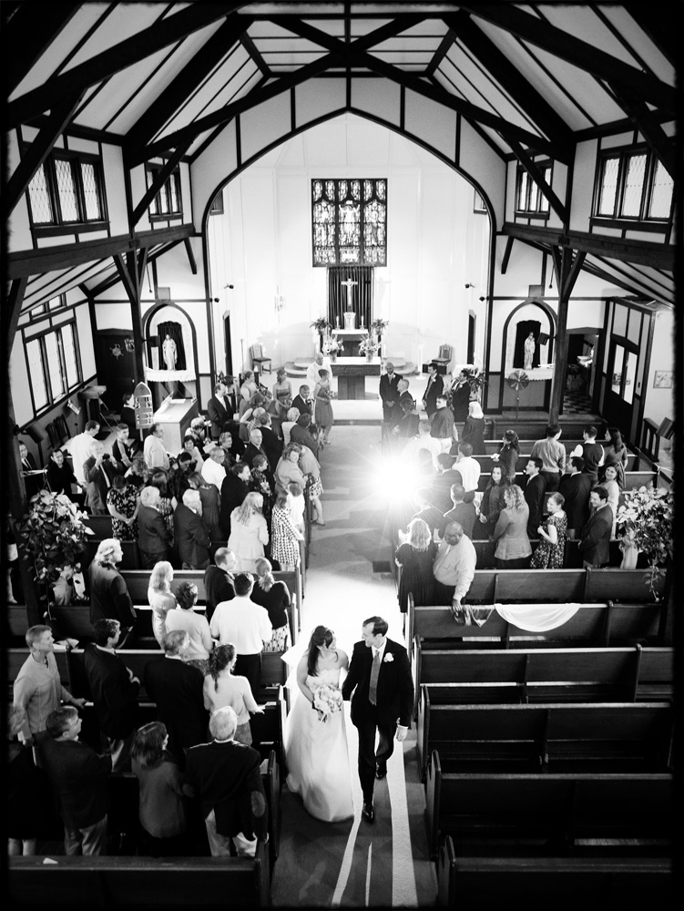 wedding recessional at church on Peak's Island maine