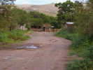 A gas station at the end of a dirt road in Mata Ortiz