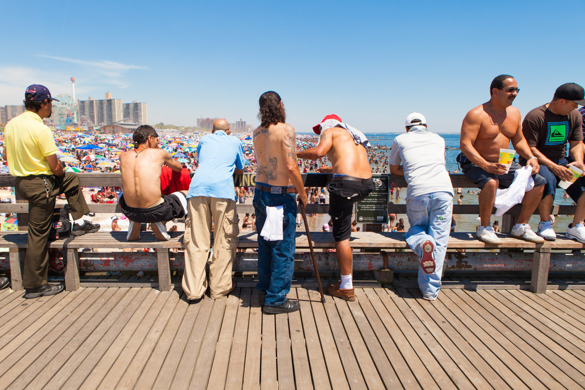 An estimated 75,000 people visited Coney Island on July 4th weekend, 2010.