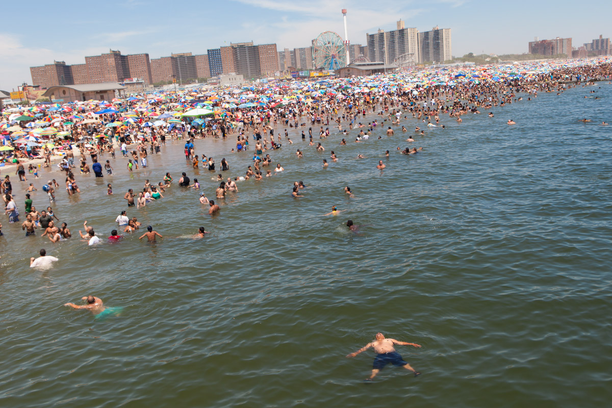 Temperatures reached 100 degrees on July 5th, 2010, sending thousands into the cooling water.