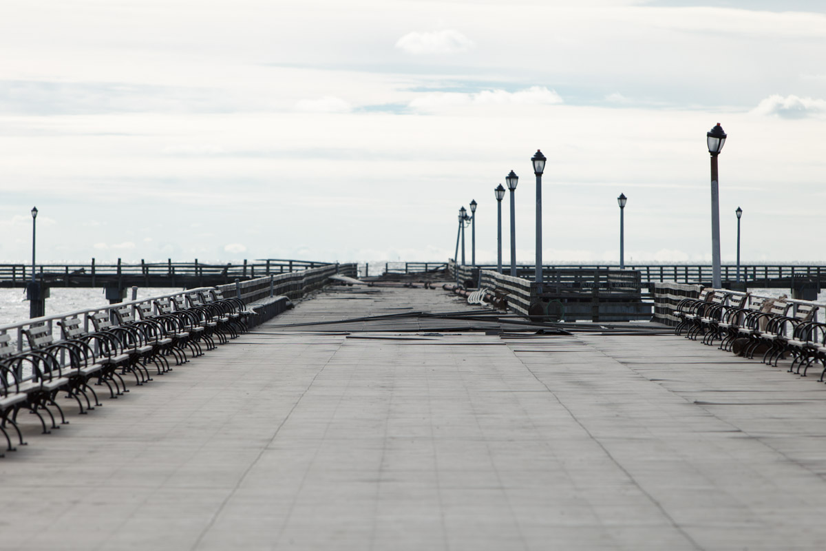Damage to the Steeplechase Pier in Coney Island following Hurricane Sandy. November 1, 2012.