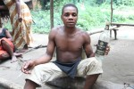Visiting a Pygmy village deep in the jungle. Near Kiribi - Cameroon