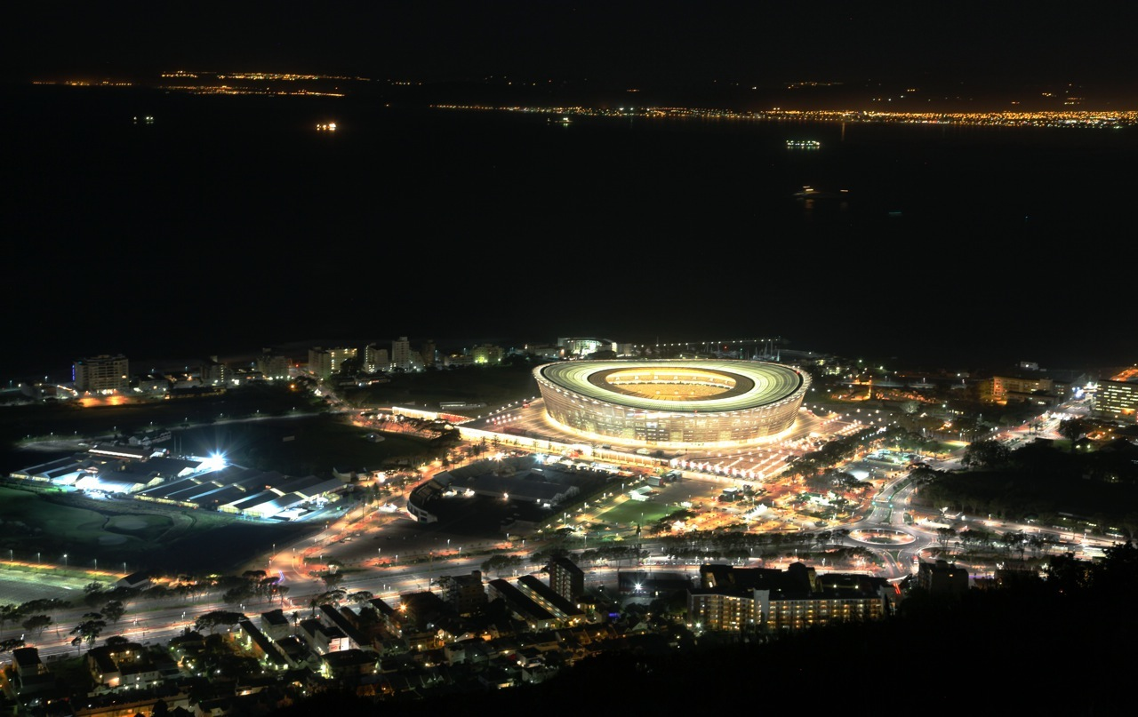 This stadium was built for the 2010 World Cup Cape Town, South Africa