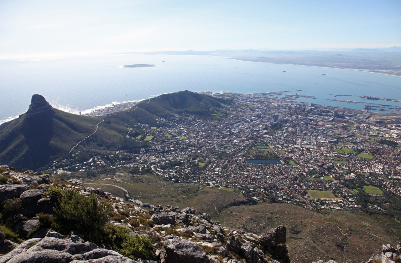 View from Table Mountain - Cape Town, South Africa