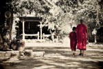 I noticed these monks walking the grounds of their monastery. I loved how the elder monk kept his arm around the younger monk as they walked towards the famous 12th century Sulamani Temple.Bagan, Burma