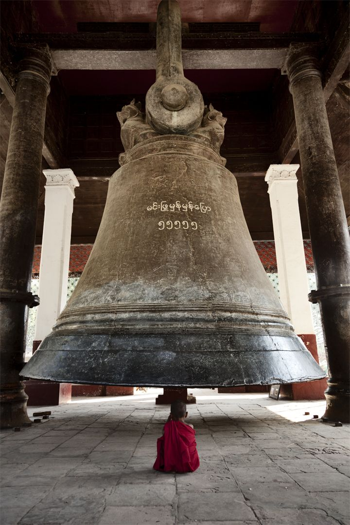The Mingun Bell is located in Mingun, Sagaing Region, Myanmar. It is located approximately 11 km (6.8 mi) north of Mandalay on the western bank of the Irrawaddy River. It is the heaviest functioning bell in the world.