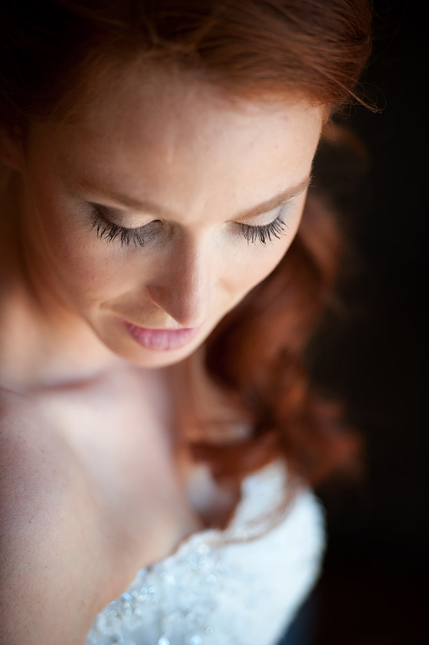 portrait of the bride.