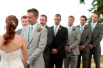groomsmen during the ceremony.