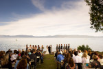 ceremony in front of the lake.