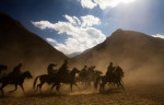 The men of Khenj, Afghanistan, compete in a game of buzkashi.