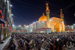 Shiite worshipers perform the evening prayer at the holy shrine of Imam Ali in Najaf, Iraq on Thursday January 6, 2010. In 2004 Muqtada al-Sadr's Mehdi Army took over the shrine and fought American forces in the city in a bloody battle. Residents of the city have mixed feelings about al-Sadr's return. Anti-American cleric al-Sadr led Shiite resistance fighters against the American-led forces in several bloody battles before fleeing into exile in Iran over four years ago. His return to Iraq is being welcomed by his supporters.