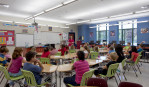Locust Grove middle school classroom with class in session