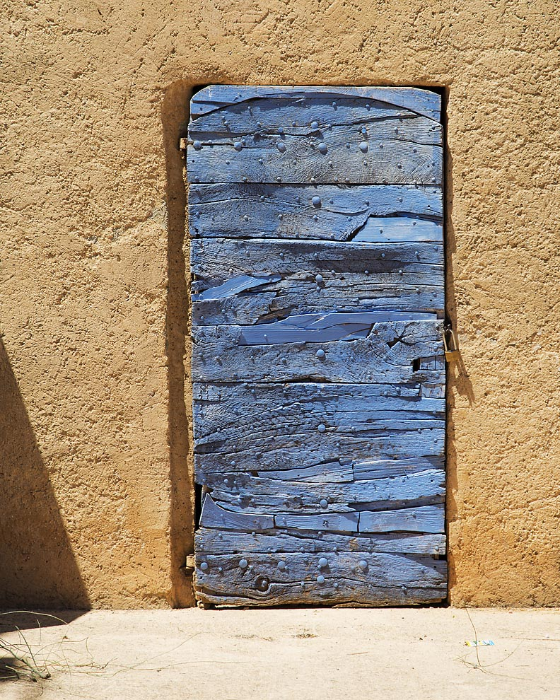 a little door in Roussillon, France, the center of the ocre trade.