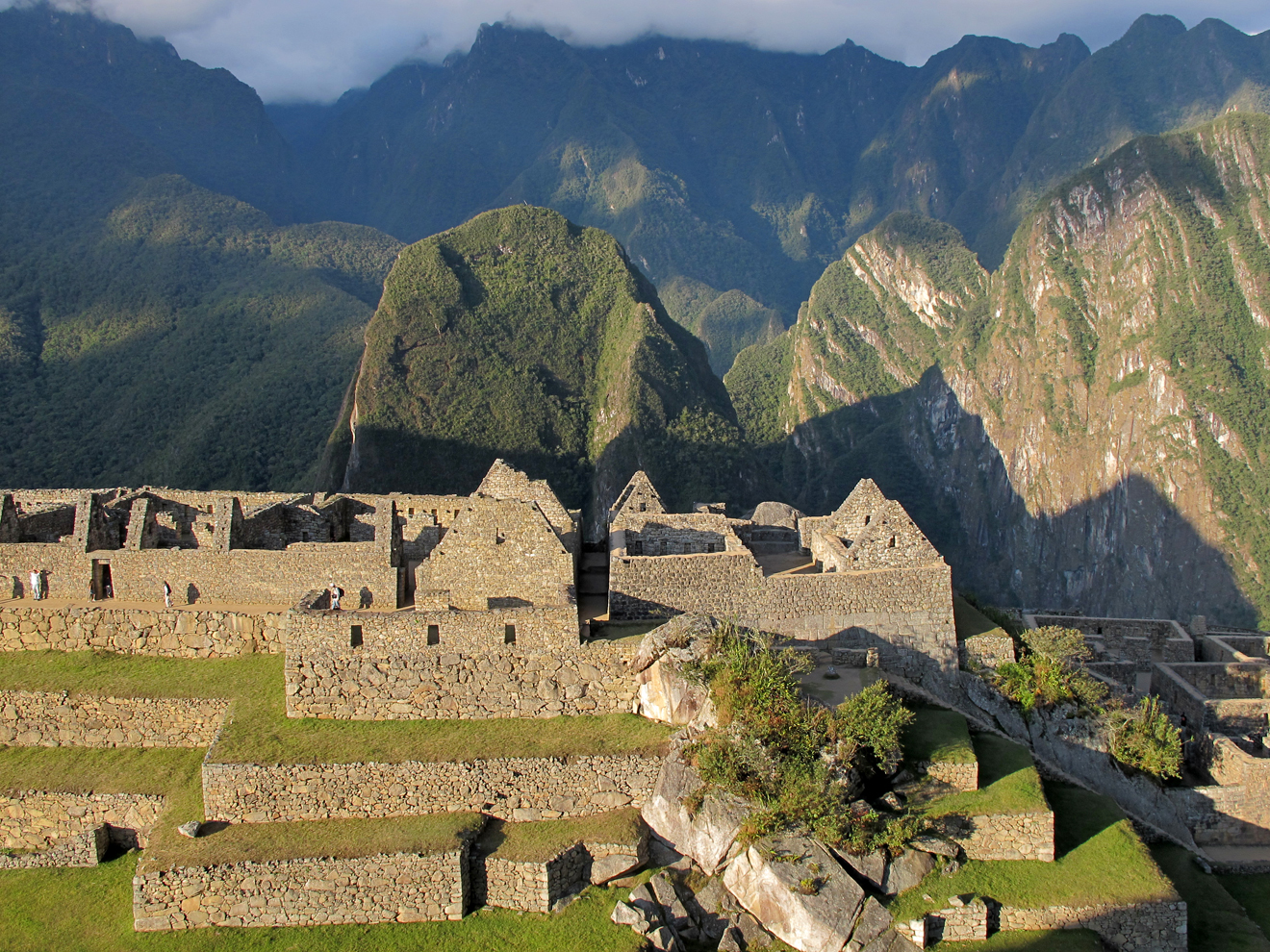 late-day sun at Machu Picchu, Peru