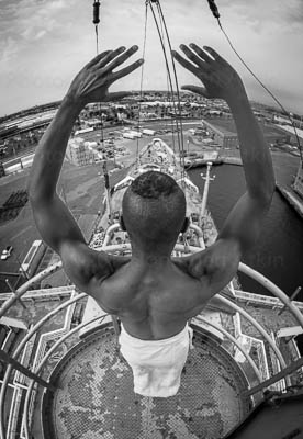 Top of Crows Nest B&W Both Arms Raised #0430Print Choices	13 x 19 Archival Print $450.00 USD	17 x 22 Archival Print $550.00 USD