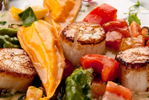 Scallops and pasta dinner-Carl Kravats-food photographer