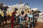 Sacks of hibiscus (known locally as karkade) are weighed and loaded onto trucks at the El Obeid commodity market, which is a hub for trade in agricultural products from Kordofan and Darfur.El Obeid, Northern Kordofan State