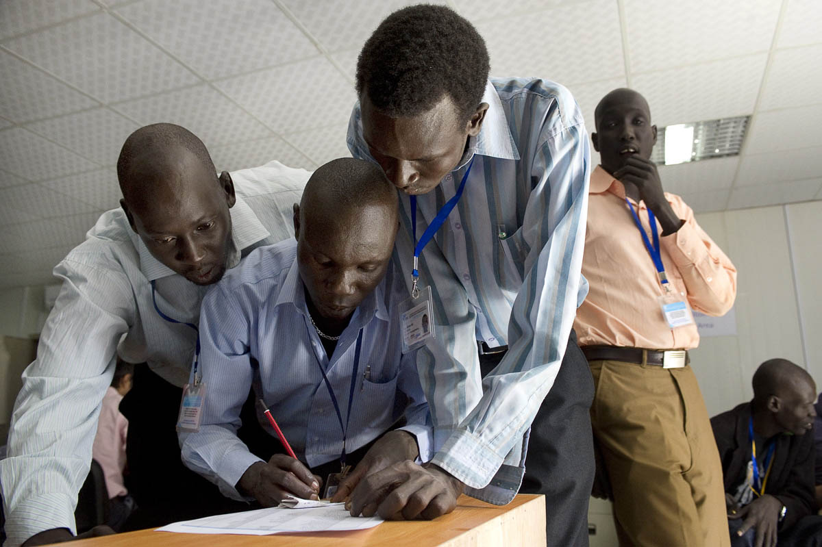 Results are tabulated at the Southern Sudan Referendum Bureau office.Juba, southern Sudan