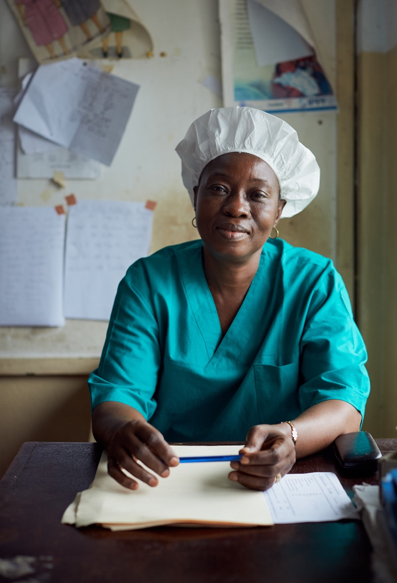 Senior Midwife Ester had just been released from 21 days of quarantine after being exposed to Ebola from one of her patients. She was back at work on the day of her release