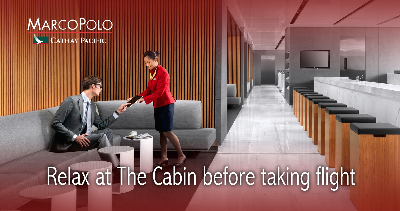 Advertisement for Cathay Pacific Marco Polo Club