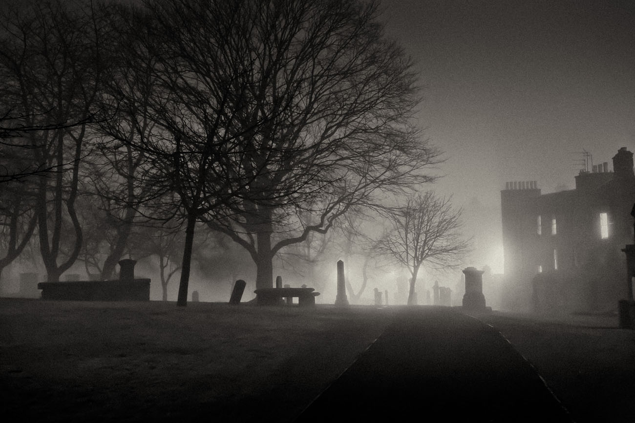Image result for graveyard at night