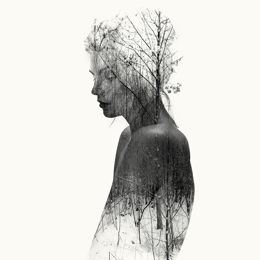 nude double exposure profile