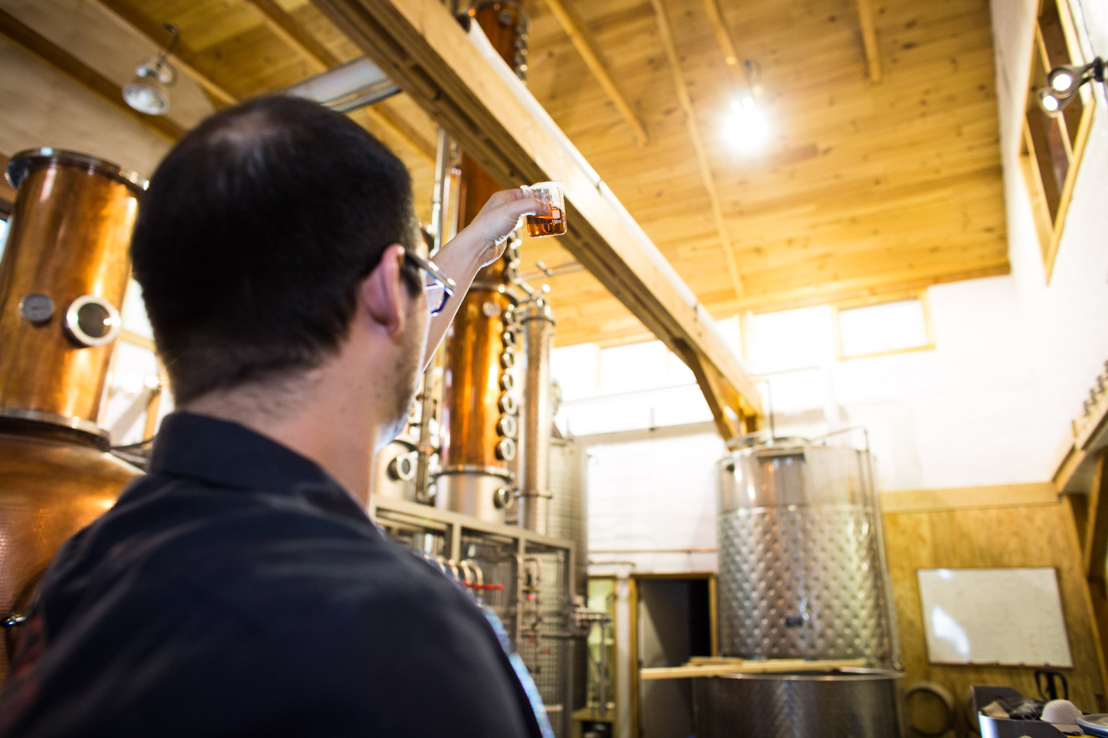 Silo Distillery, craft distillers in Windsor, Vermont. Photographed on location by Reciprocity Studio photographers.