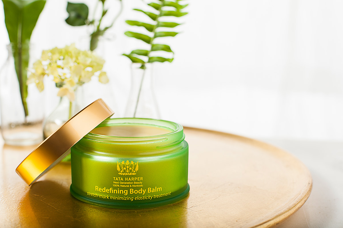 Redefining Body Balm, a Tata Harper beauty skincare product shot by Vermont photographers at Reciprocity Studio